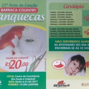 22ª FESTA DA CANÇÃO - BARRACA COUNTRY